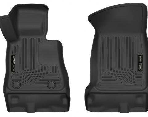 Husky Liner 52231, Floor Liner, X-act Contour (TM), Molded Fit, Raised Channels And Edges, Black, TPE (Thermoplastic Elastomer), 2 Piece