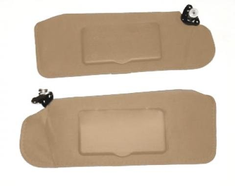 F-Body Sunvisors, Left & Right with Mirrors, Tan, 1993-2002