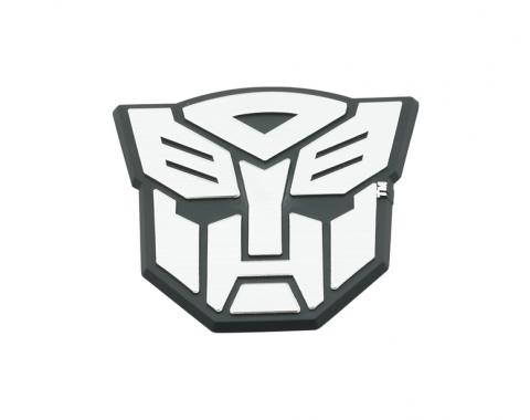 DefenderWorx Autobot Trunk Badge Black And Chrome 900485