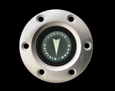 Volante S6 Series Horn Button Kit, 65-68 Pontiac GTO, Brushed