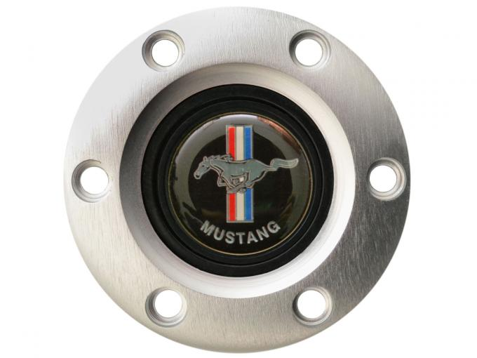 Volante S6 Series Horn Button Kit, Classic Ford Mustang, Brushed