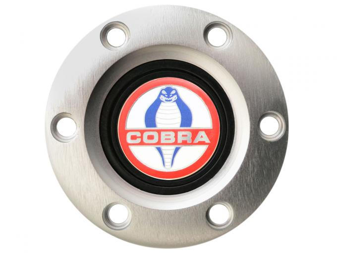 Volante S6 Series Horn Button Kit, Cobra, Brushed