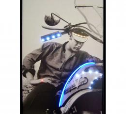 Neonetics Neon/led Pictures, Elvis on Motorcycle Neon/led Picture