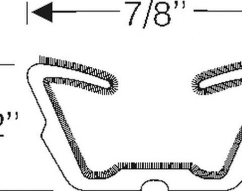 """Flexible Run Channel, 7/8"""" Wide, 8 Foot Strip"""