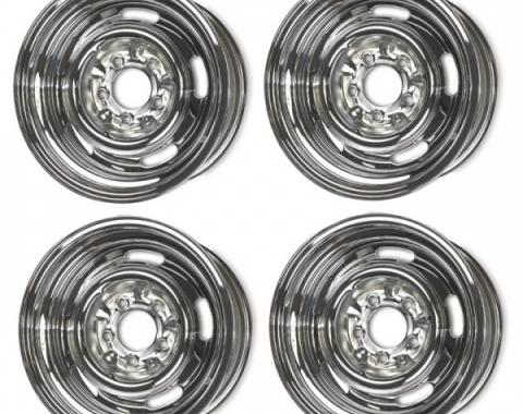 Camaro Rally Wheel Set, Chrome 15 x 7, 1967-1969