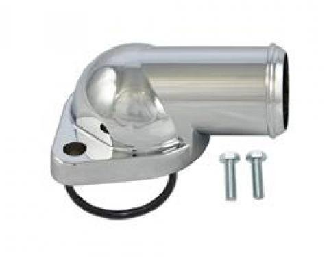 Pontiac Thermostat Housing, Chrome, With O-Ring Seal, 1964-1979