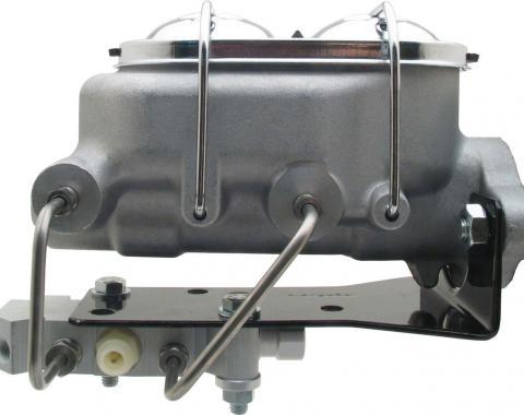 MBM Universal Aluminum Proline Master Cylinder w/ Bottom Mount Disc/ Drum Proportioning Valve MCK112BM