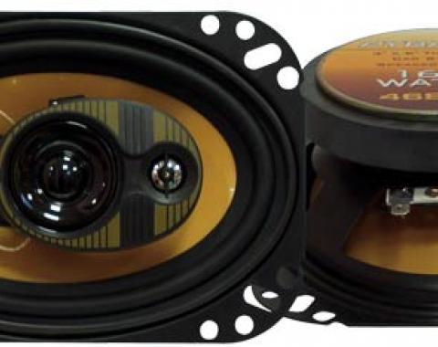 """Camaro Speakers, 4x6"""" Dash, 160 Watt, 1982-1992"""