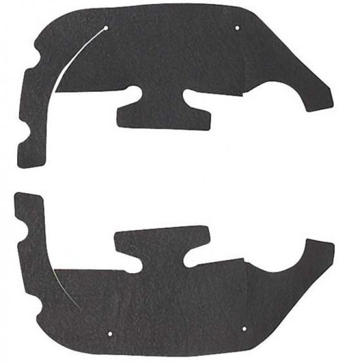 Camaro Control Arm Dust Shields, 1969
