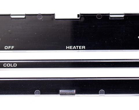 Classic Headquarters Heater Control lens without A/C, 80-81 Camaro R-417