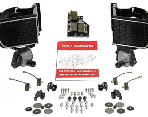 Classic Headquarters Headlamp System Kit, Complete Kits for LH and RH, 67 Camaro (Rally Sport) W-906