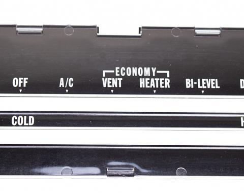 Classic Headquarters Heater Control Lens with A/C, 74-75 Camaro R-422