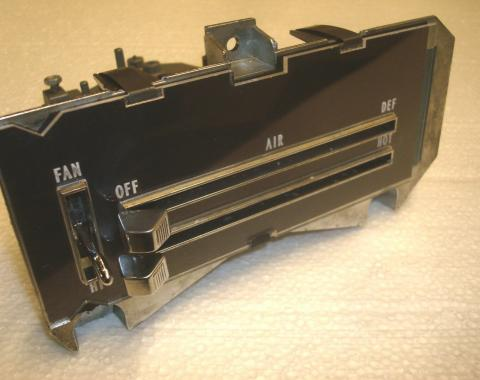 Camaro Heater Control Panel Assembly, For Cars Without Air Conditioning, Remanufactured, 1970-1981