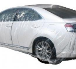 Car Cover, Disposable Clear, Small, 5 Pack