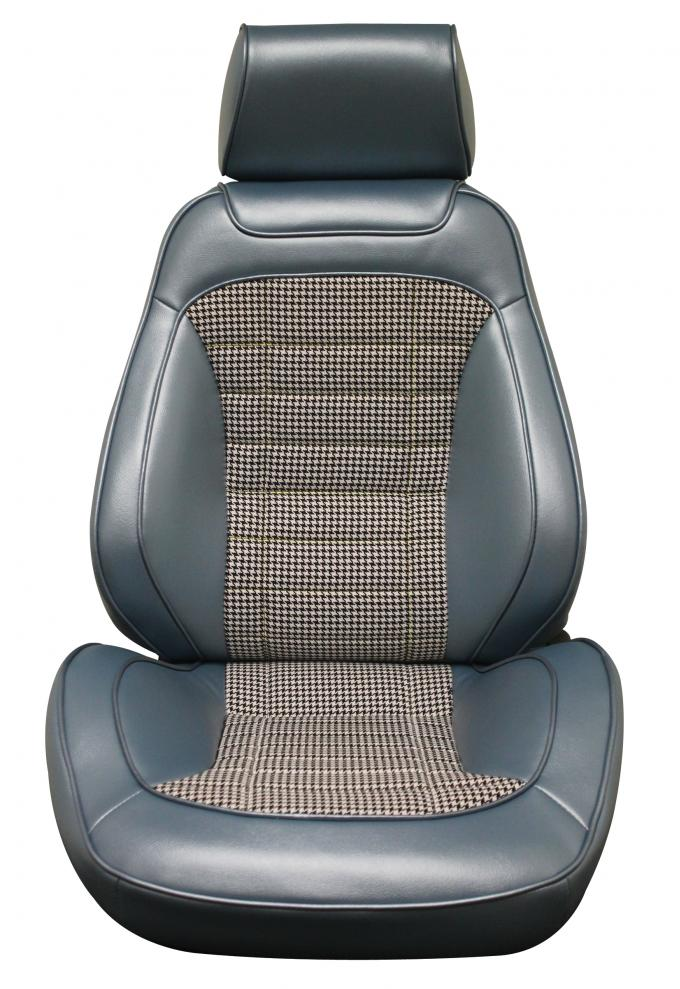 Distinctive Industries 1968 Camaro Houndstooth Touring II Front Assembled Bucket Seats (69 Houndstooth Cloth) 072496