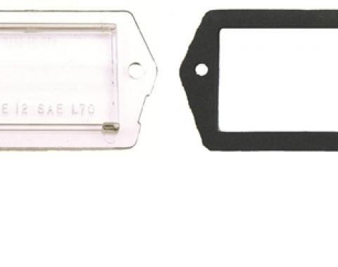 Classic Headquarters Camaro License Light Lens with Gasket (1 Each) W-016E