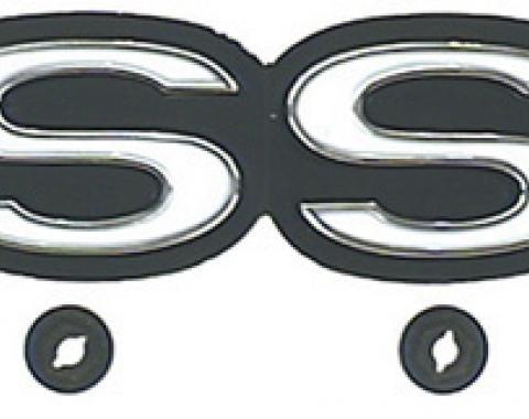 "Classic Headquarters ""SS"" Rear Panel Emblem W-393"