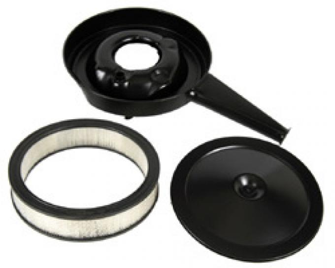 Classic Headquarters Cowl Air Cleaner, Black Lid and Filter W-260