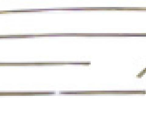 Classic Headquarters Roof Drip Molding Set - 6 Pieces W-508