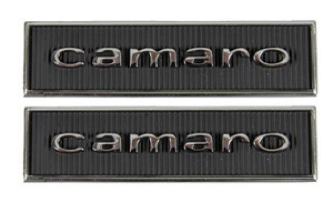 Classic Headquarters Standard Door Panel 'Camaro' Emblem, Pair W-094