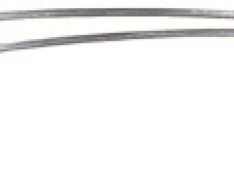 Classic Headquarters F-Body Stainless Steel Roof Drip Molding, Pair W-859