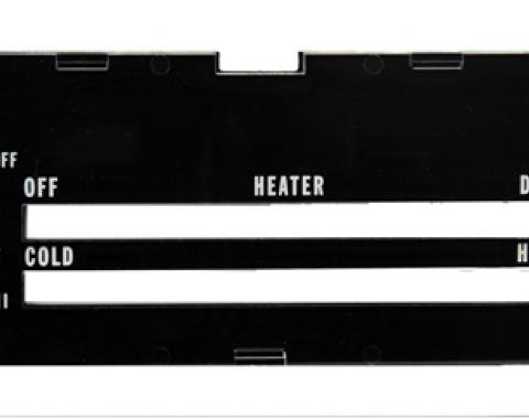Classic Headquarters Camaro Heater Control Lens without Ac, with Backing Paper R-416
