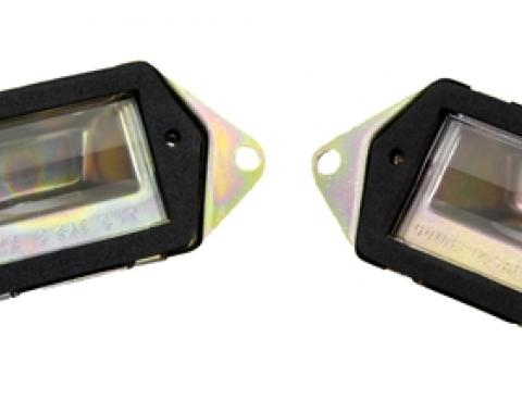 Classic Headquarters Camaro License Lamp Assembly, Pair W-016