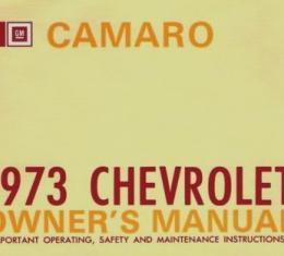 Camaro Owner's Manual, Glove Box, 1973