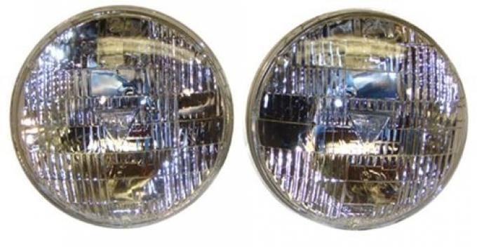 T3 Headlight Headlamp Set, OE Style Ribbed Design, Pair