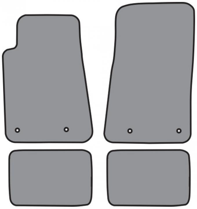 ACC  Chevrolet Camaro Floor Mat 4pc (FM341F FM341R) Cutpile, 2010-2015