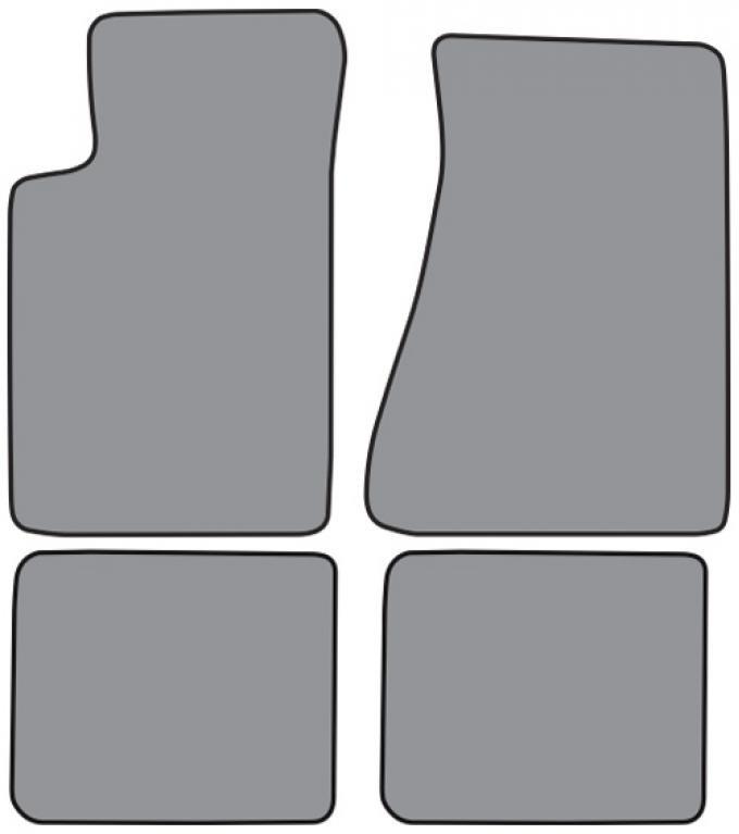 ACC  Chevrolet Camaro Molded Floor Mat 4pc (FM04F FM18R) Cutpile, 1985-1992