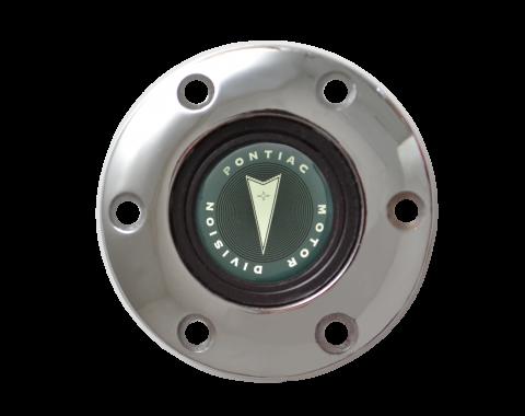 Volante S6 Series Horn Button Kit, 65-68 Pontiac GTO, Chrome