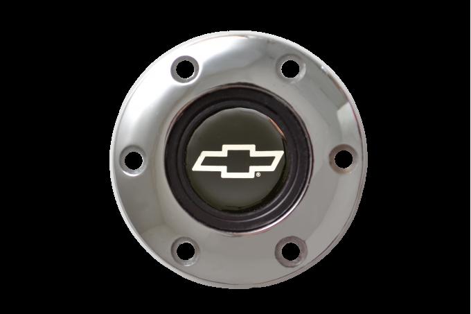 Volante S6 Series Horn Button Kit, Silver Bowtie, Chrome