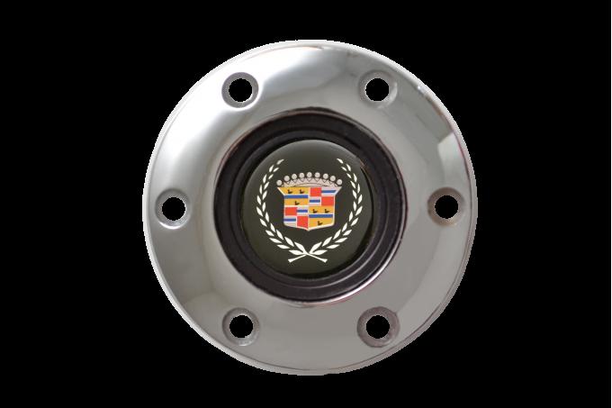 Volante S6 Series Horn Button Kit, Cadillac, Chrome