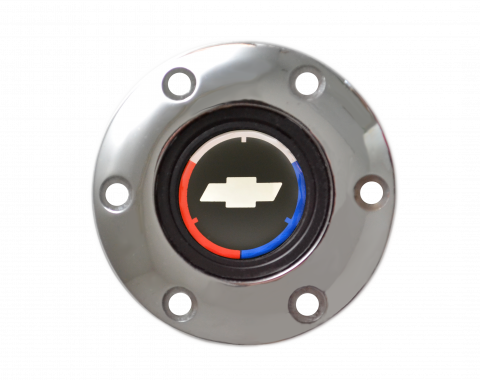 Volante S6 Series Horn Button Kit, Tri Color, Chrome