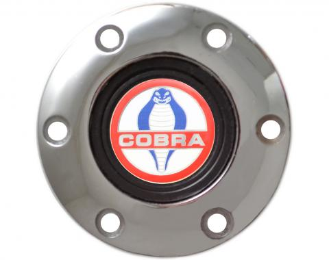 Volante S6 Series Horn Button Kit, Cobra, Chrome