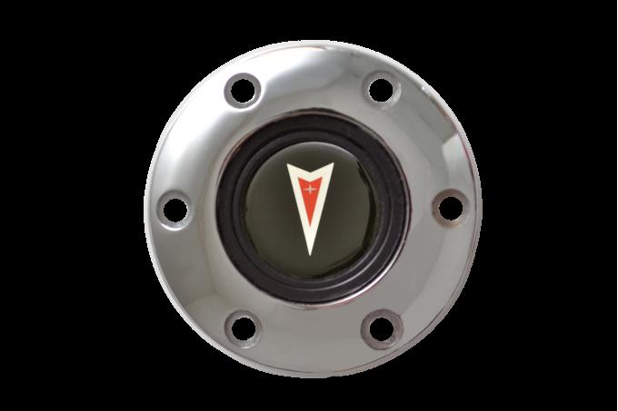 Volante S6 Series Horn Button Kit, Pontiac Red Arrow, Chrome