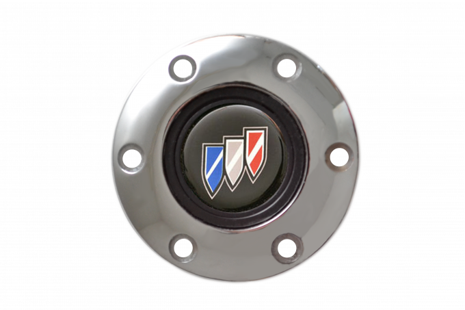 Volante S6 Series Horn Button Kit, Buick, Chrome