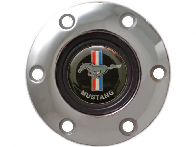 Volante S6 Series Horn Button Kit, Classic Ford Mustang, Chrome