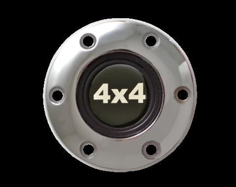 Volante S6 Series Horn Button Kit, 4x4, Chrome