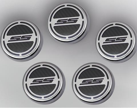 "American Car Craft Chevrolet Camaro 2010-2015  Cap Cover Set Carbon Fiber ""SS"" Series Automatic 5pc CF Black 103074-BLK"