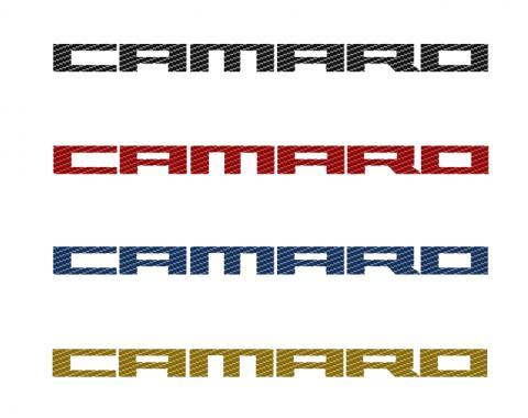 "American Car Craft Chevrolet Camaro 2010-2015  Door Panel Kick Plates ""Camaro Style"" Satin 2pc CF Black 101027-BLK"