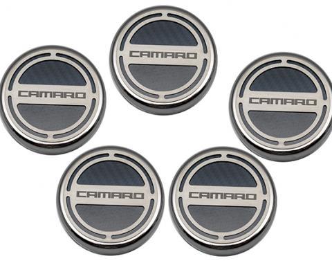 "American Car Craft Chevrolet Camaro 2010-2015  Cap Cover Set Carbon Fiber ""Camaro"" Series Automatic 5pc CF Black 103071-BLK"