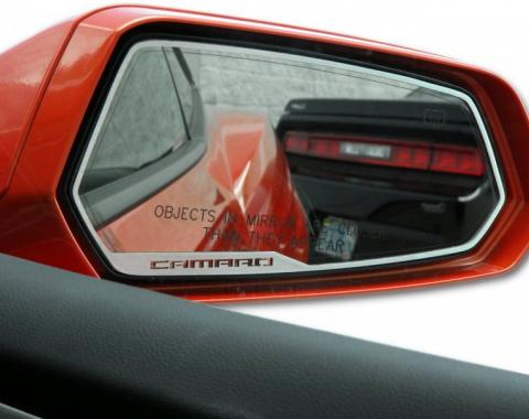 "American Car Craft 2010-2013 Chevrolet Camaro Mirror Trim Side View Satin ""Camaro Style"" 2pc 102056"