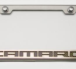 "American Car Craft Chevrolet Camaro 2010-2018  Tag Frame Chrome/Satin ""Camaro Style"" Synergy Green 102043-SGRN"