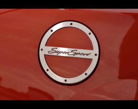 "American Car Craft 2010-2017 Chevrolet Camaro Gas Cap Cover Satin ""Super Sport"" 102010"
