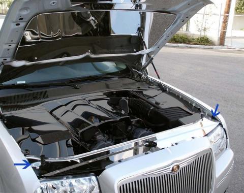 American Car Craft Radiator/Header Plate Polished Hemi 6.1L / 5.7L / 3.5L 303023