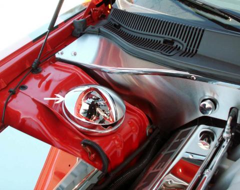 American Car Craft Shock Tower Dome Covers Chrome 303014