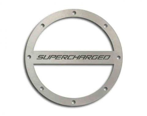 "American Car Craft Gas Cap Cover Satin ""Supercharged Style"" 102091"