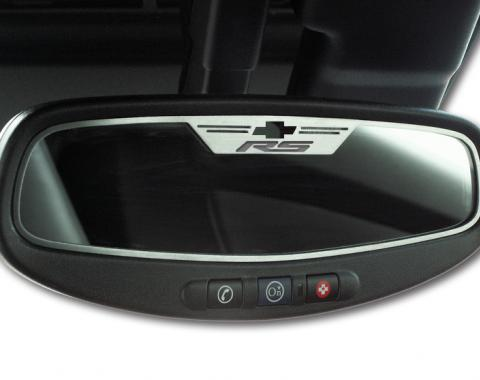 """American Car Craft Chevrolet Camaro 2010-2014  Mirror Trim Rear View Satin """"RS Style"""" Oval WITH SENSOR 101042-S"""